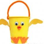 Easter Craft Idea: Baby Chicks Easter Basket