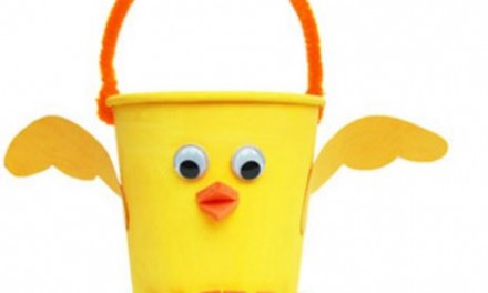 Easter Craft Idea: Baby Chicks Easter Basket