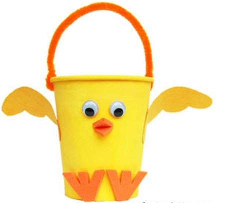 Springtime Craft: Chick Easter Basket