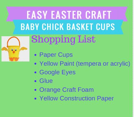 Easy Easter Craft Shopping List