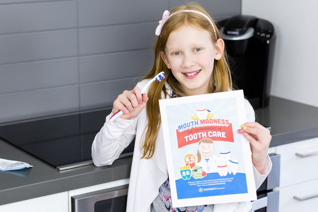 Make Brushing teeth fun to encourage good dental Hygiene Photo Credit: 5 Minutes for Mom