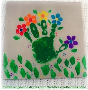 Easter Craft: Hand Print Flowers