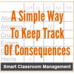 How to Keep Track Of Consequences in the Classroom