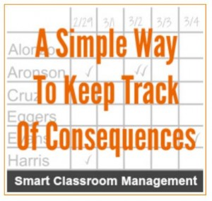 Classroom Management: Keeping Track of Consequences