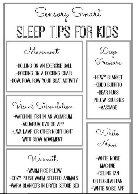 Sleep Tips For Kids With Sensory Processing Disorder Spd